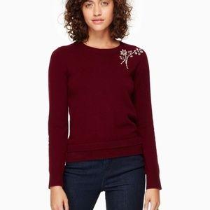 Kate Spade Burgundy sweater.
